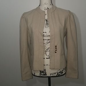 Saks Fifth Avenue Beige Blazer Size 8